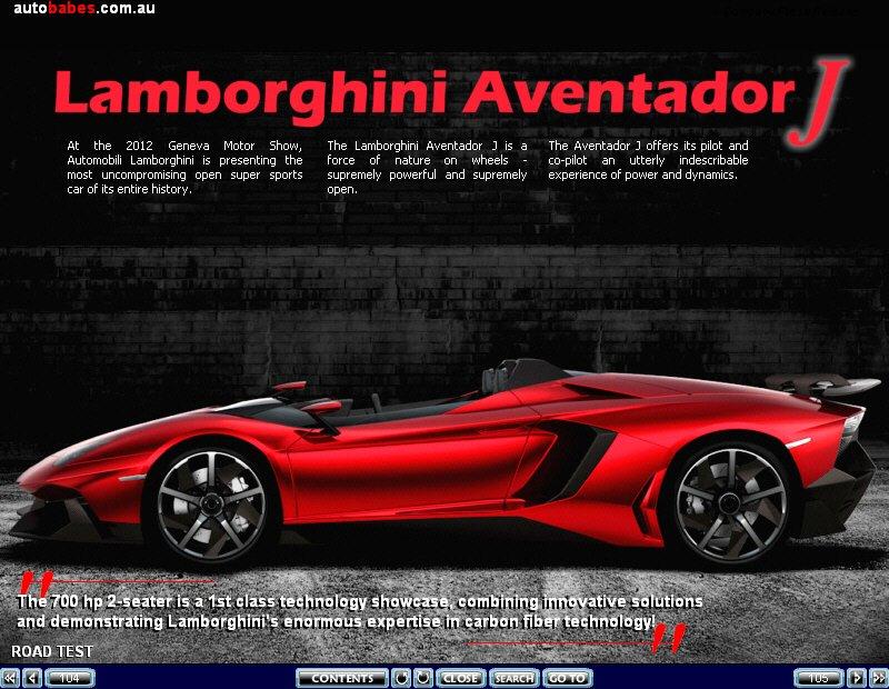 Lamborghini Aventador J !