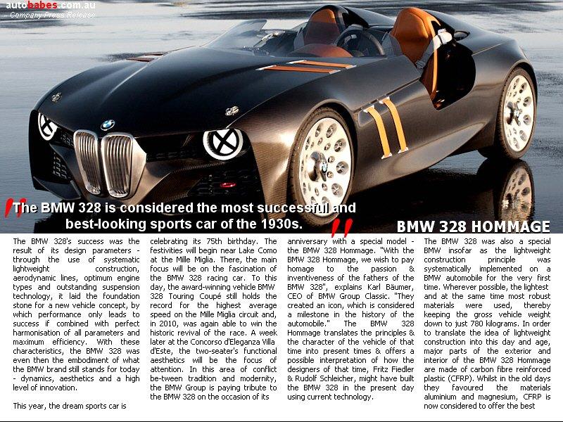BMW 328 HOMMAGE !