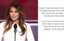 Melania Trump Issues Apology ;-)