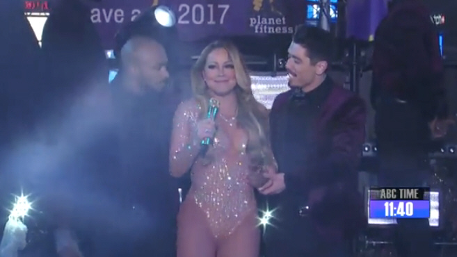Mariah Carey remains GRACEFUL through technical issues at Times Square NYE performance