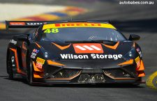 Wood and Major to front Interlloy Lamborghini at Phillip Island