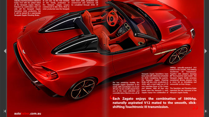 aston martin vanquish zagato speedster i magazine. Black Bedroom Furniture Sets. Home Design Ideas