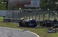 Sandown Crash; Tony Hazelwood Walks Away After Tumbling Into Wall